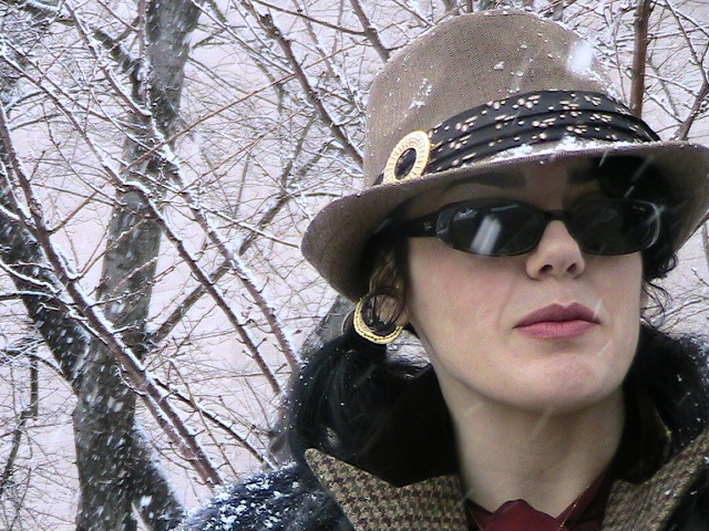 Jennifer Susannah Devore in the Washington, D.C. snow