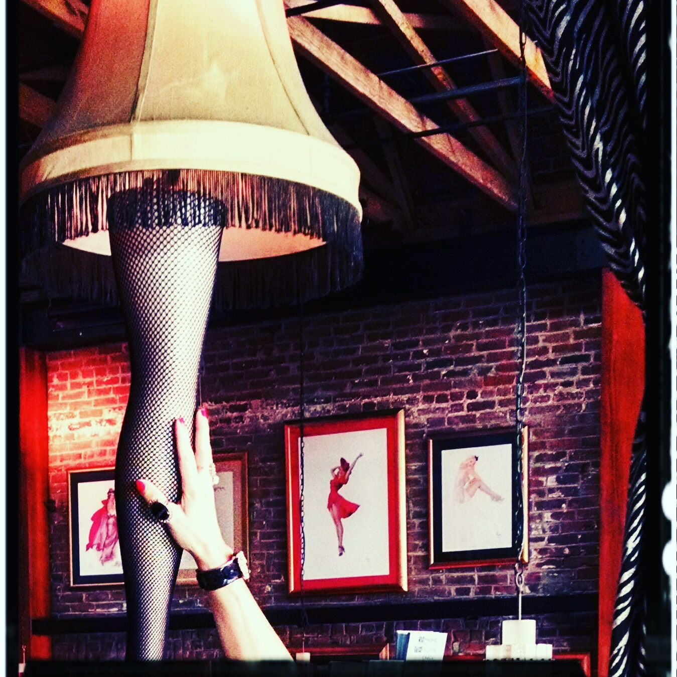 Author Jennifer Susannah Devore's homage to A Christmas Story, Gaslamp Strip Club, San Diego. Photo: JSDevore
